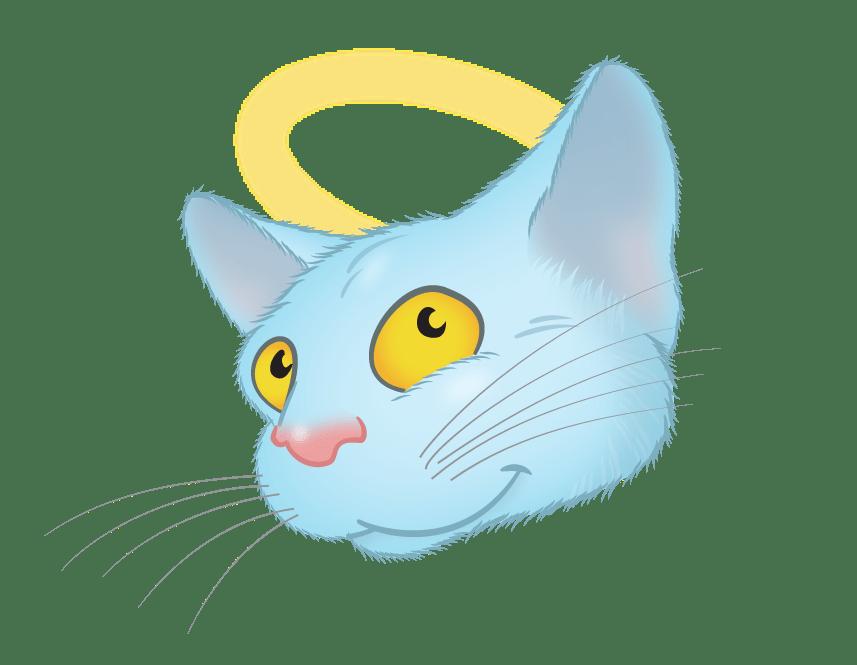 Blue Cat emoji messages sticker-9