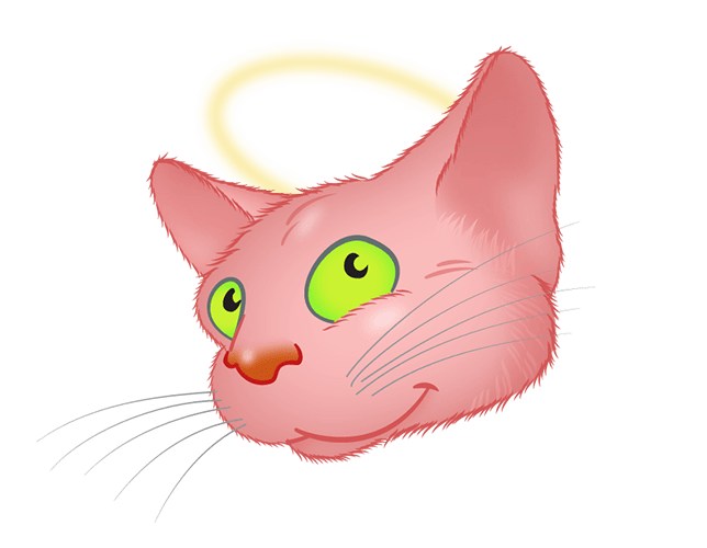 Pink Cat emoji messages sticker-9