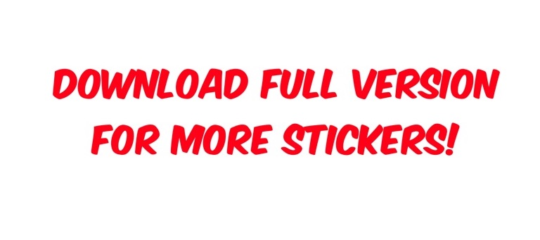 Large Text Stickers Lite messages sticker-7