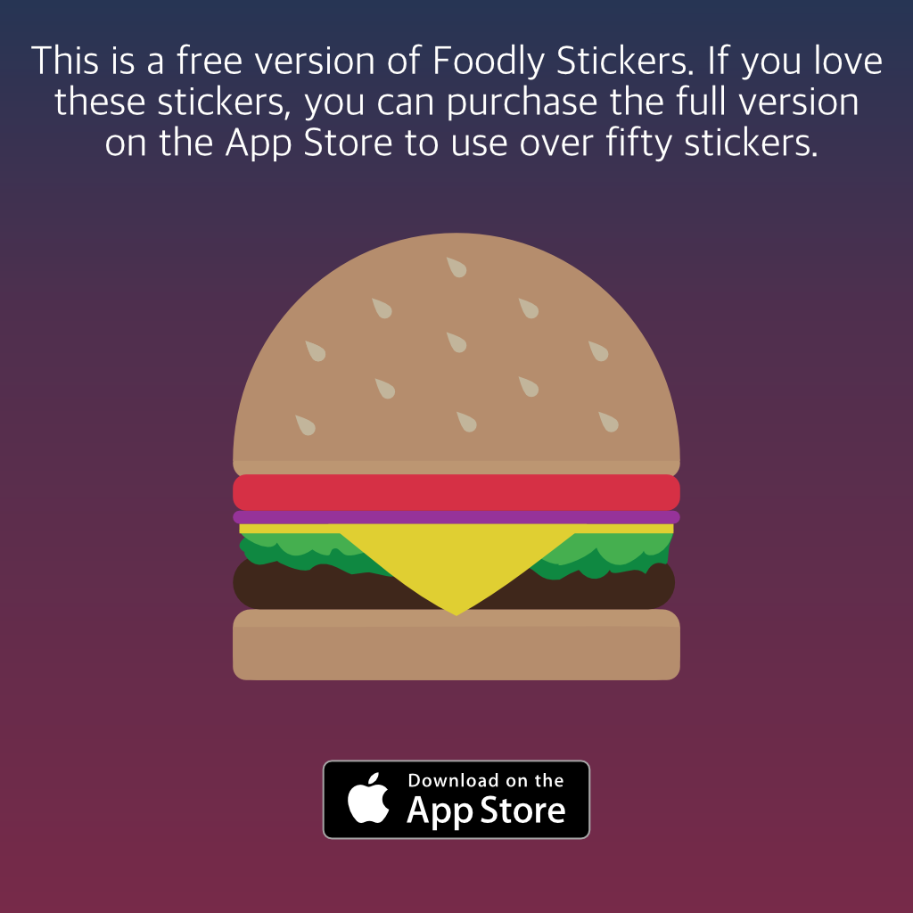 Foodly Stickers- Limited Stickers Version messages sticker-5