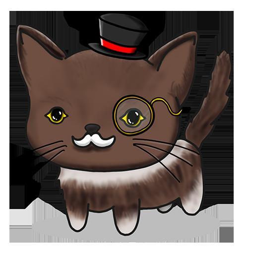 Nekojima: Cat Island Clicker messages sticker-5