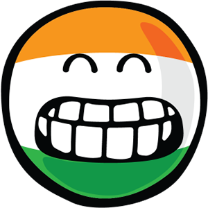 Indian Smiley Stickers messages sticker-3
