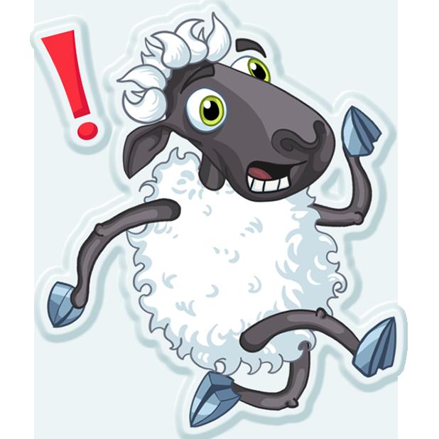 Sheep Frenzy 2 messages sticker-0