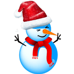 Christmas Snowman striker messages sticker-1