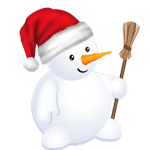 Christmas Snowman striker messages sticker-11