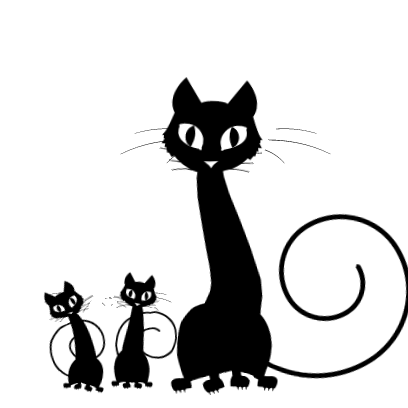 Sticker Black Cats for iMessage messages sticker-6