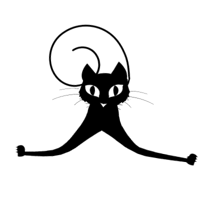 Sticker Black Cats for iMessage messages sticker-8