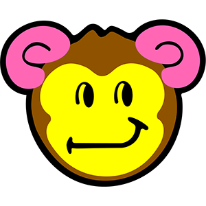 Smiley Monkeys messages sticker-2