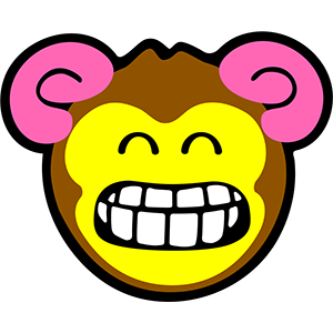Smiley Monkeys messages sticker-3