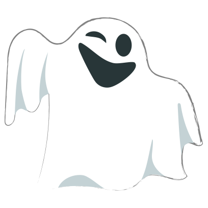 Ghost halloween emoji messages sticker-4