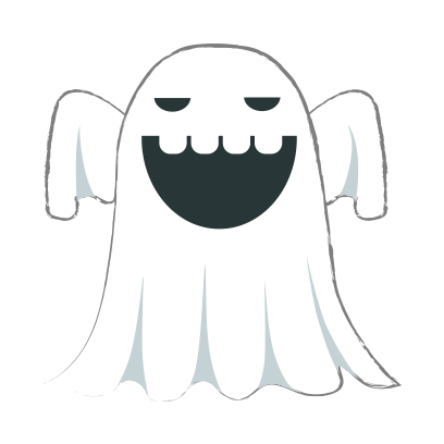 Ghost halloween emoji messages sticker-1