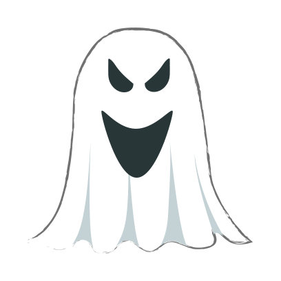 Ghost halloween emoji messages sticker-7