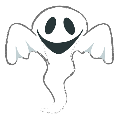Ghost halloween emoji messages sticker-8