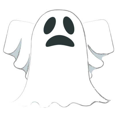 Ghost halloween emoji messages sticker-5