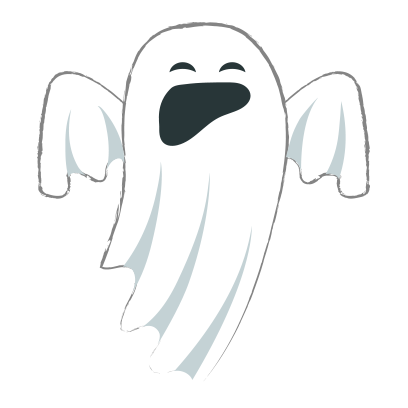 Ghost halloween emoji messages sticker-3