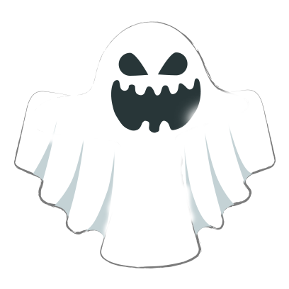 Ghost halloween emoji messages sticker-2