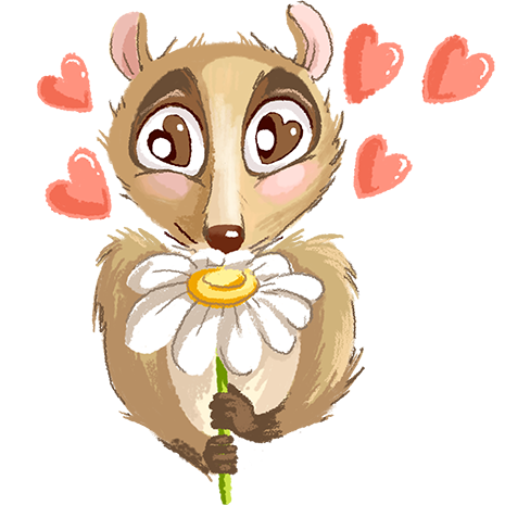 Lemur - Cute stickers messages sticker-10