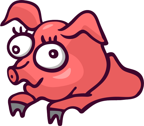 Pig - Cute stickers messages sticker-1