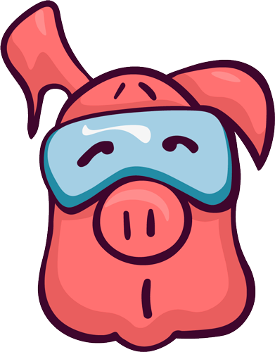 Pig - Cute stickers messages sticker-3