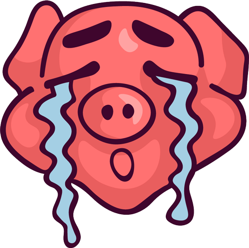 Pig - Cute stickers messages sticker-11