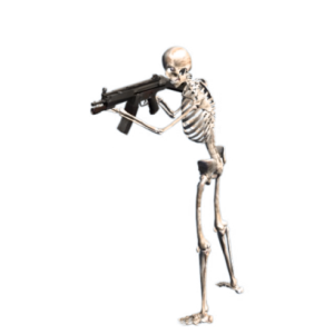 Skeleton emoji halloween messages sticker-1