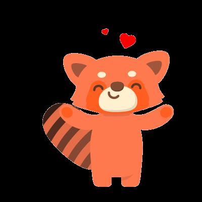 Red Pandas messages sticker-2