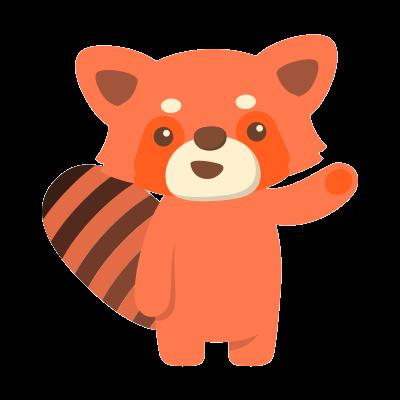 Red Pandas messages sticker-1