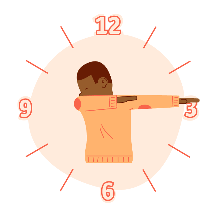 Dab O'Clock messages sticker-2