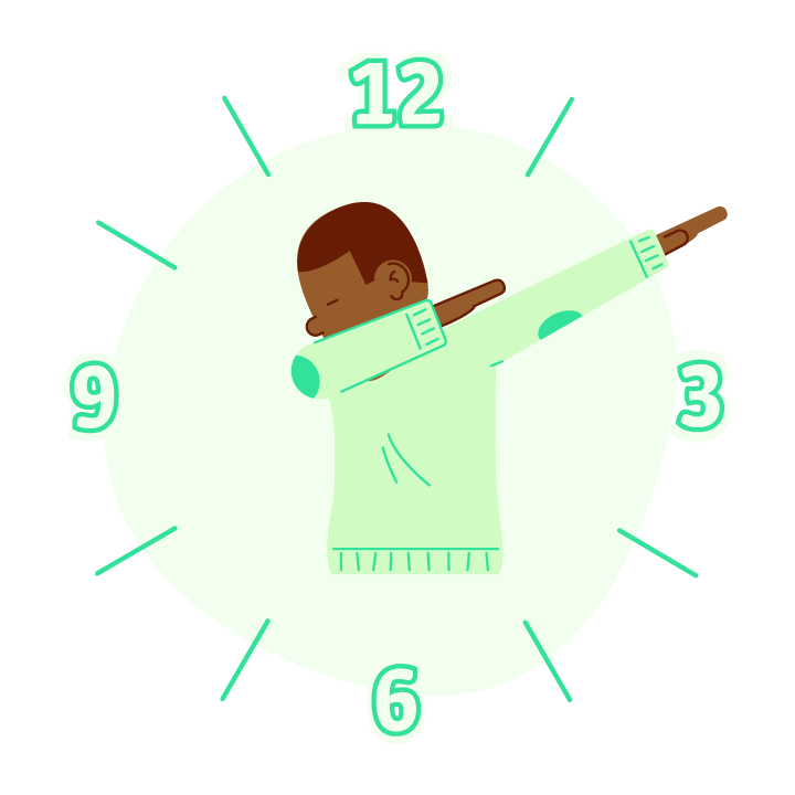Dab O'Clock messages sticker-1