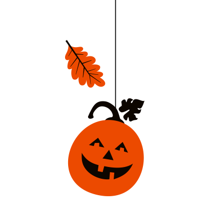 Hanging Halloween decorations messages sticker-1