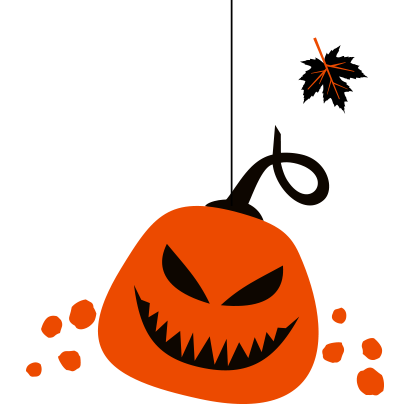 Hanging Halloween decorations messages sticker-5