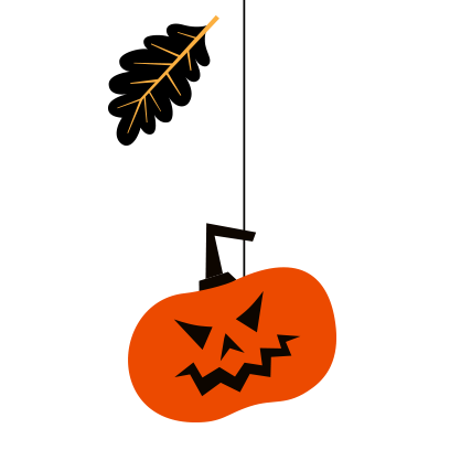 Hanging Halloween decorations messages sticker-2