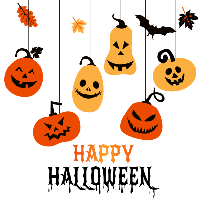 Hanging Halloween decorations messages sticker-7