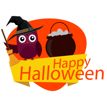 Sticker Halloween banner messages sticker-9