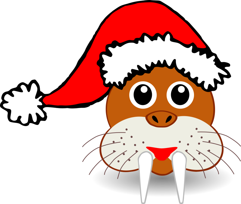 Animals In Santa Hats messages sticker-3