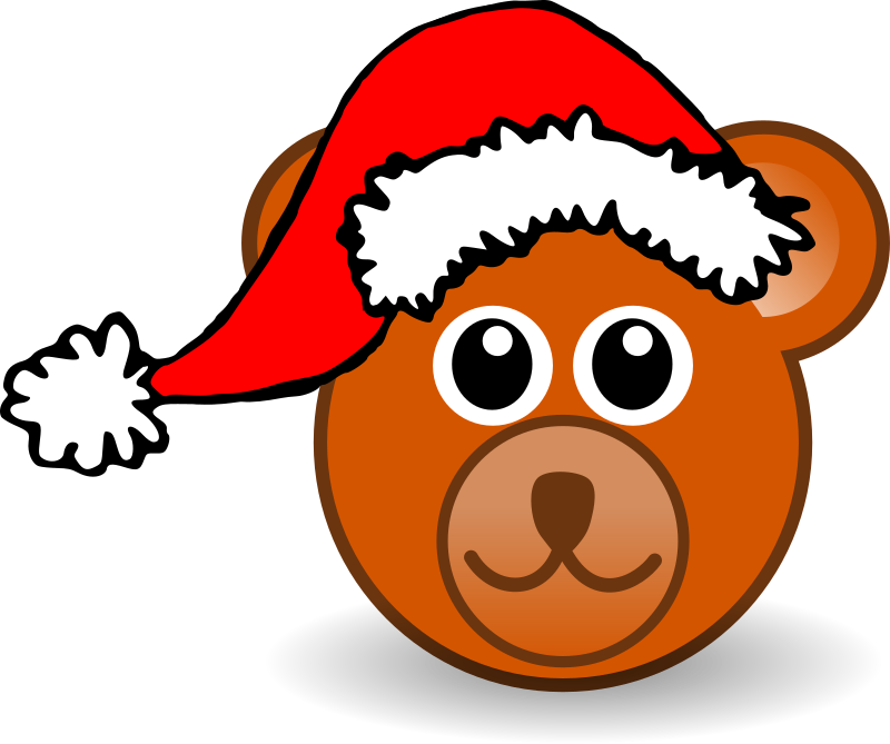 Animals In Santa Hats messages sticker-0