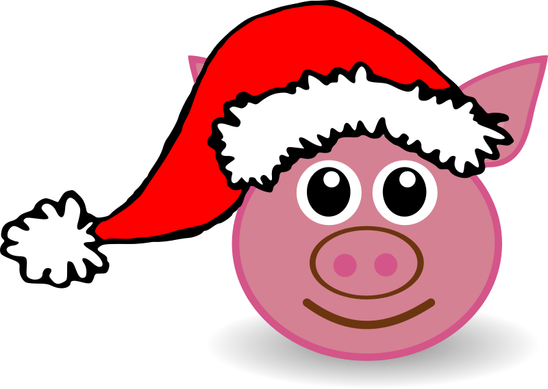 Animals In Santa Hats messages sticker-8