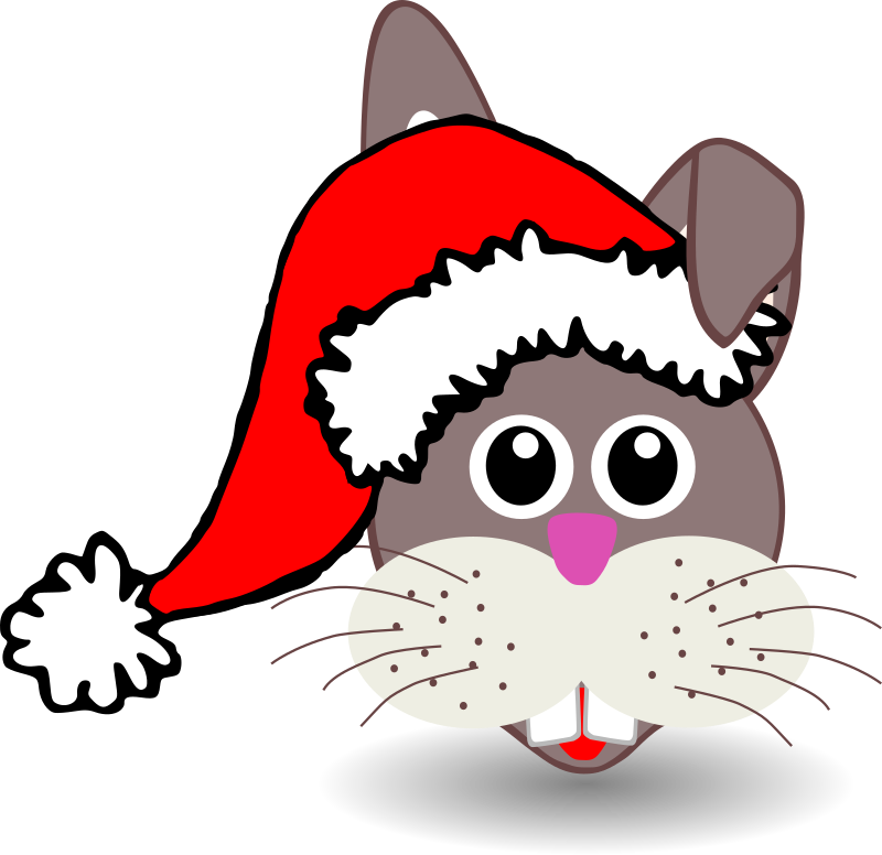 Animals In Santa Hats messages sticker-2