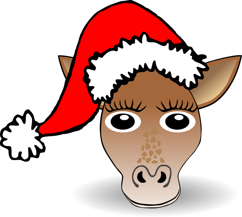 Animals In Santa Hats messages sticker-5