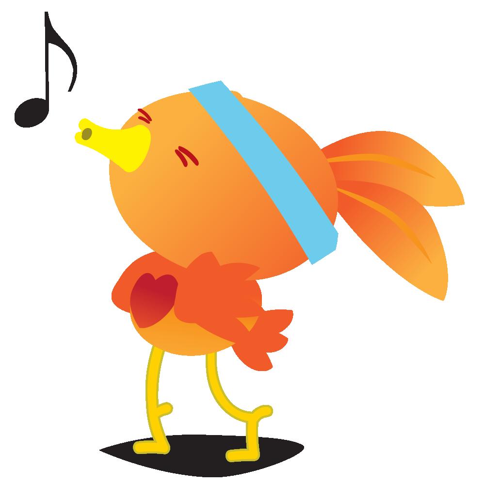 Orange Robin - emoji stickers messages sticker-1
