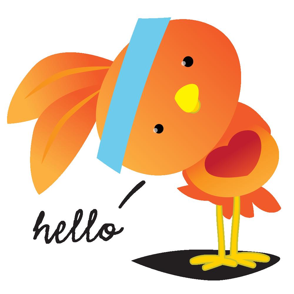 Orange Robin - emoji stickers messages sticker-2
