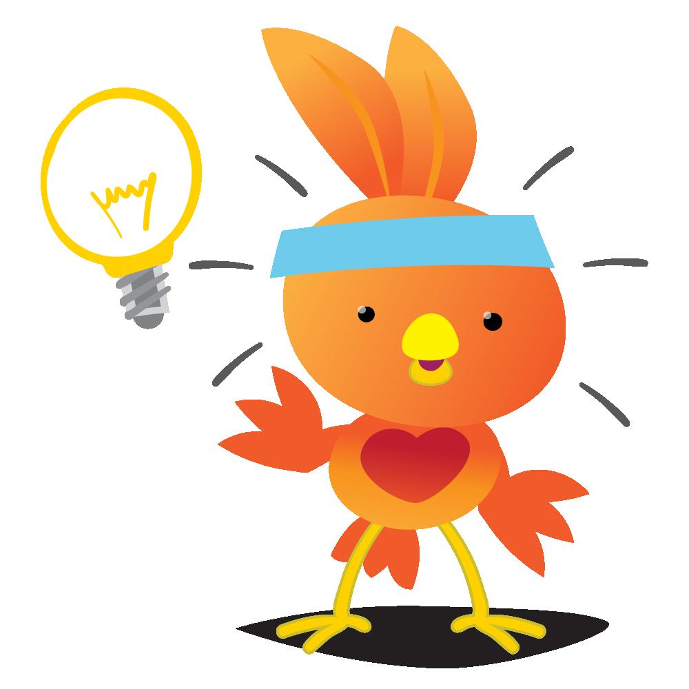 Orange Robin - emoji stickers messages sticker-3