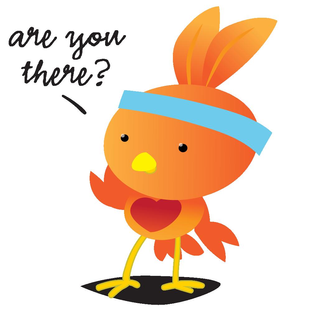 Orange Robin - emoji stickers messages sticker-0