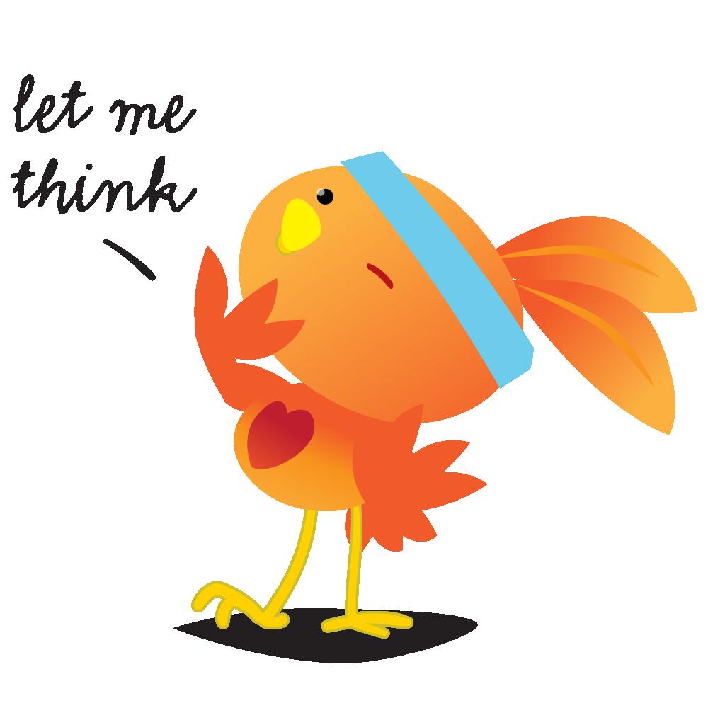 Orange Robin - emoji stickers messages sticker-8