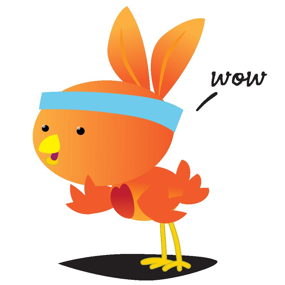 Orange Robin - emoji stickers messages sticker-9
