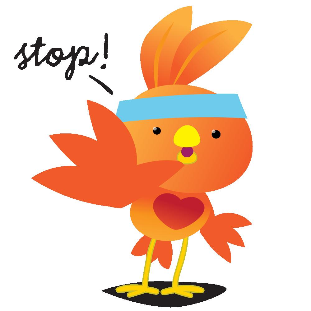 Orange Robin - emoji stickers messages sticker-10