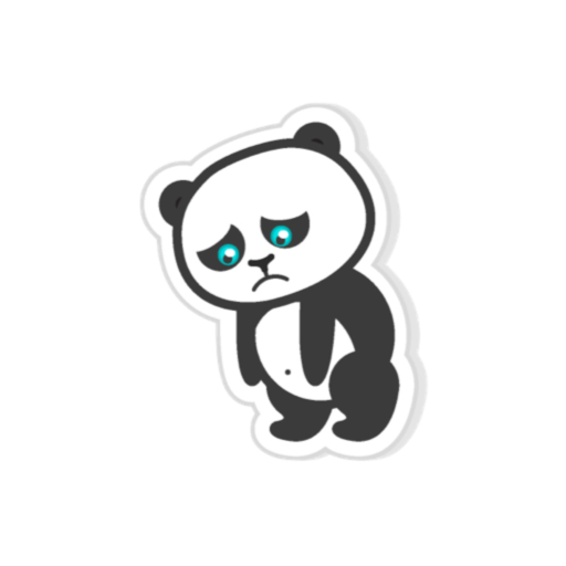 Pandamoji - stickers for message messages sticker-8