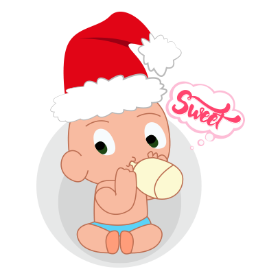 Baby emoji Mery Christmas messages sticker-11