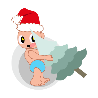 Baby emoji Mery Christmas messages sticker-3