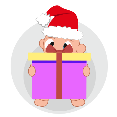 Baby emoji Mery Christmas messages sticker-2